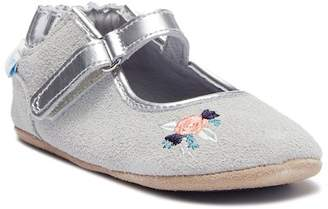 Robeez Ms. Blossom Suede Ballet Flat (Baby)