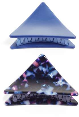 Tasha Set of 2 Triangle Jaw Clips
