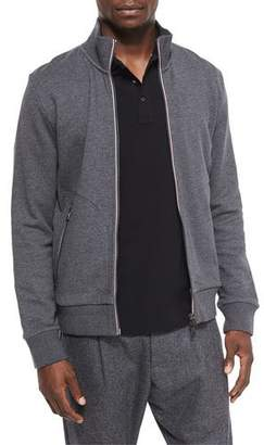 Moncler Full-Zip Track Jacket, Gray $410 thestylecure.com
