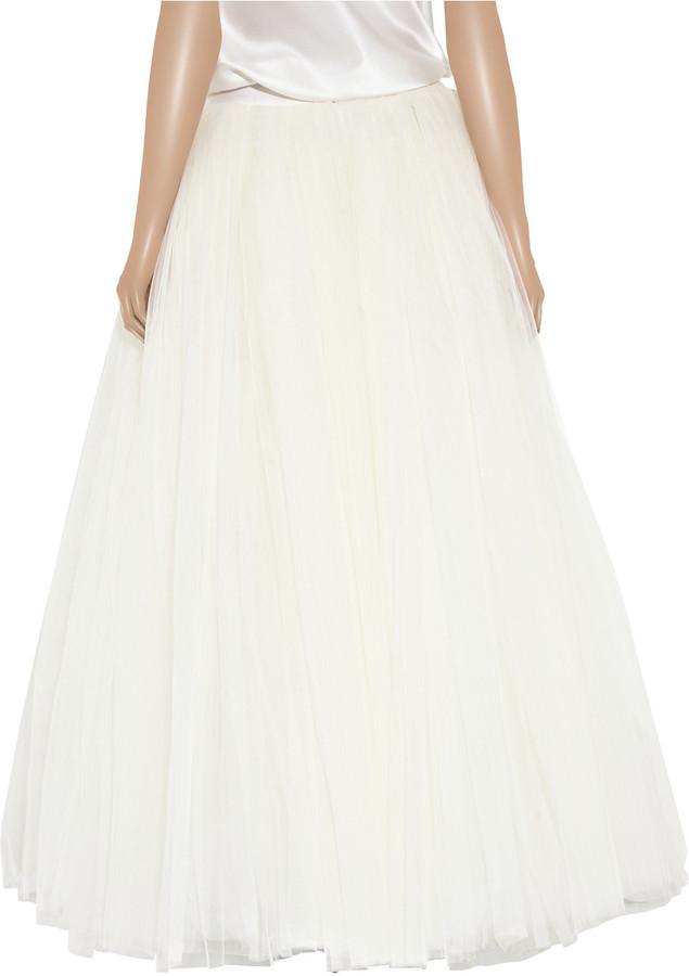 Alberta Ferretti Multi-layered tulle skirt