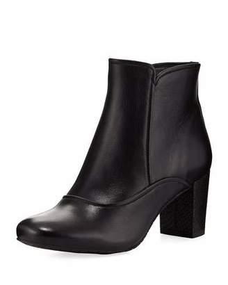Donald J Pliner Paisley Fashion Leather Bootie, Black