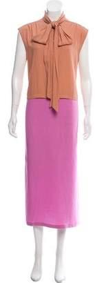 Dries Van Noten Desussi Colorblock dress w/ Tags