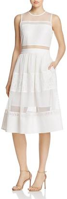 AQUA Tiered Lace Midi Dress - 100% Exclusive $98 thestylecure.com