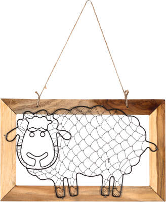 Highst. Sheep in Wooden Frame Hanging Wall Accent