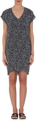 Derek Lam 10 Crosby WOMEN'S BRUSHSTROKE-PRINT SILK SHIFT DRESS
