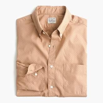 J.Crew Stretch Secret Wash shirt in dotted bronze
