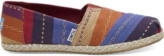 Rainbow Multi Stripe Woven Women's Espadrilles