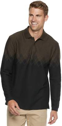 Haggar Men's Classic-Fit Soft Touch Jacquard Polo