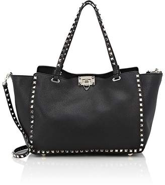 Valentino Women's Rockstud Medium Leather Trapeze Bag