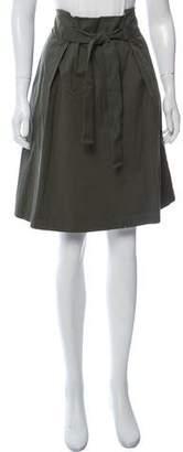 Fabiana Filippi Tie-Accented A-Line Skirt