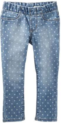 Osh Kosh Oshkosh Bgosh Girls 4-8 Polka-Dot Pull-On Denim Pants