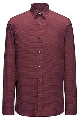 HUGO BOSS Cotton micro-pattern shirt in a slim fit