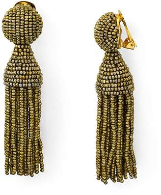 Oscar de la Renta Short Tassel Clip-On Earrings
