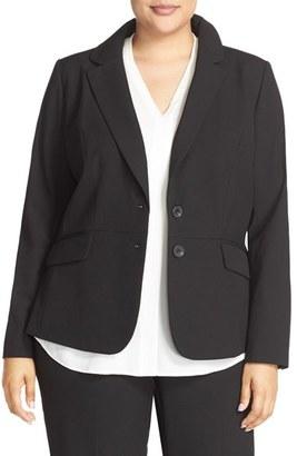 Plus Size Women's Sejour 'Ela Two-Button Stretch Suit Jacket $139 thestylecure.com
