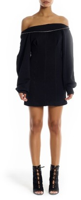 Women's Kendall + Kylie Off The Shoulder Sweatshirt Dress $165 thestylecure.com