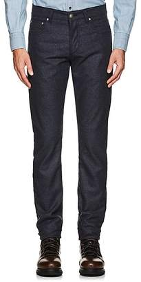 Isaia Men's Wool Flannel Slim Straight Jeans