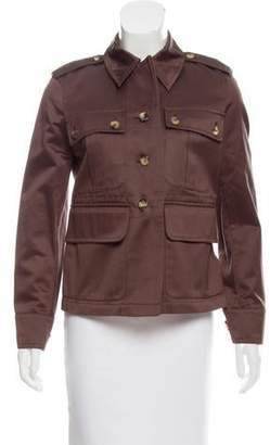 Saint Laurent Long Sleeve Button-Up Jacket