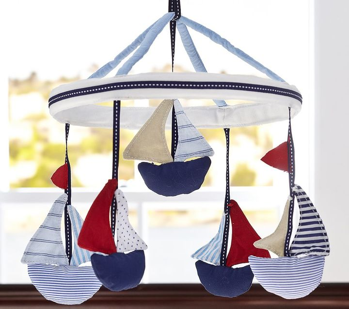 Sailboat Crib Mobile