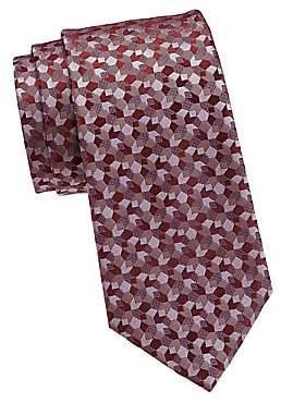 Giorgio Armani Men's Geometric Print Silk Tie