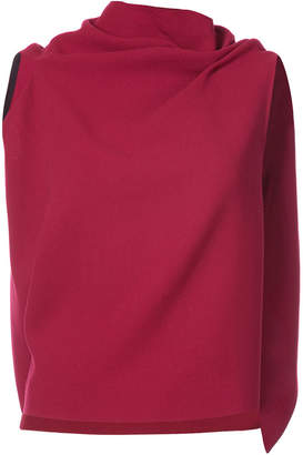 Roland Mouret draped sleeveless knitted top