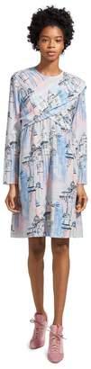 Sies Marjan Oksana City Print Wrap Mini Dress
