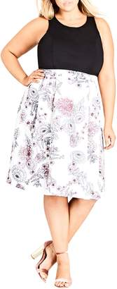 City Chic Spring Affair Fit & Flare Dress