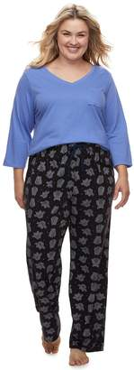 Sonoma Goods For Life Plus Size SONOMA Goods for Life Basic Tee & Pants Pajama Set