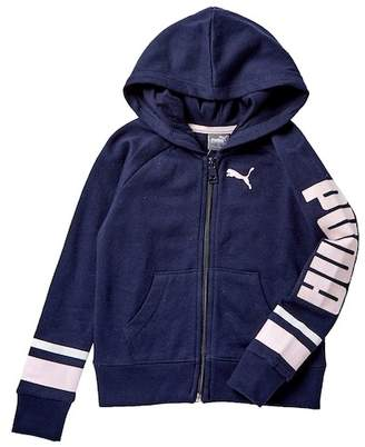 Puma French Terry Zip Up Hoodie (Little Girls)
