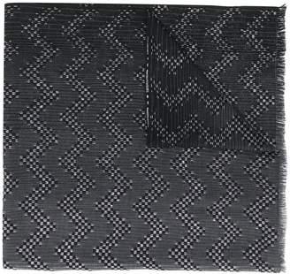 Missoni jacquard zig zag scarf