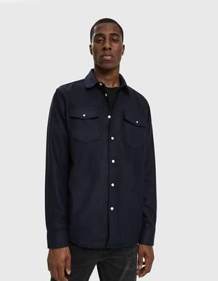 Soulland Tom Western Shirt in Navy