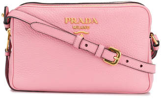 Prada Saffiano double zip crossbody bag