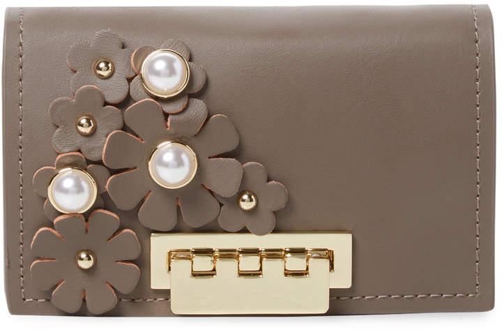 ZAC Zac Posen Women's Earthette Floral Applique Wallet On Chain