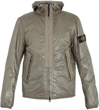 Stone Island Logo-patch shell hooded jacket