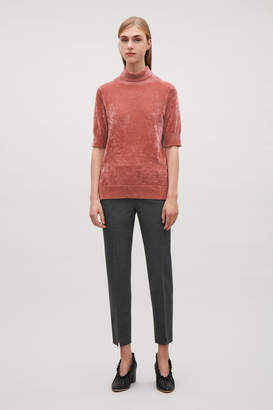 Cos CHENILLE SHORT-SLEEVE TOP