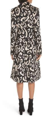Altuzarra Driss Leopard Print Wool Blend Coat