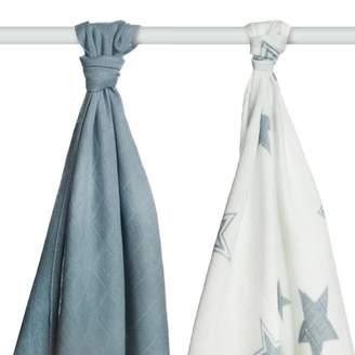 Xkko XKKO BMB Bamboo Towels Silver Stars 90 x 100cm (Set of 2)