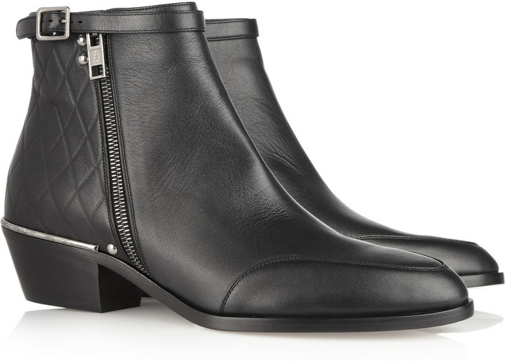 Chloé New Susanna embossed leather boots