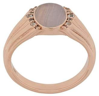 Astley Clarke Lace Agate Luna Signet ring
