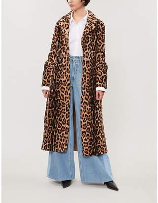 Yves Salomon Leopard-print shearling coat