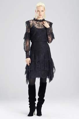 Natori Viscose Satin Lace Ruffle Skirt