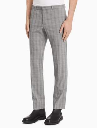 Calvin Klein Slim Fit Glen Plaid Nylon Pants