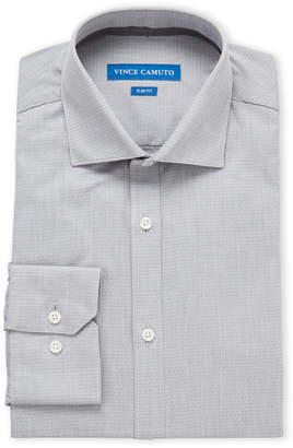 Vince Camuto Silver Dobby Slim Fit Dress Shirt