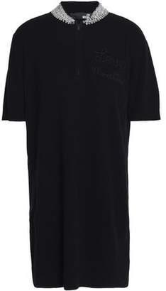 Love Moschino Embellished Ribbed-Knit Mini Dress