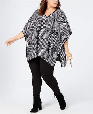 Calvin Klein Plus Size V-Neck Sweater Cape