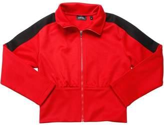Diesel Zip-Up Techno Blend Jersey Sweatshirt