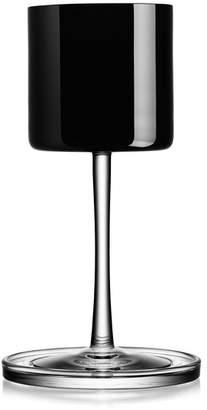 Orrefors Medium Black Karl Lagerfeld Wine Glass