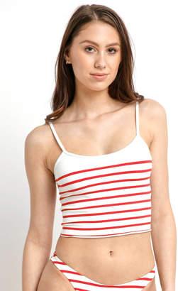Solid & Striped The Nicole Red Breton Bikini Top