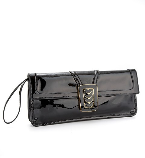 "Cole Haan Aerin Patent"" Flap Clutch"