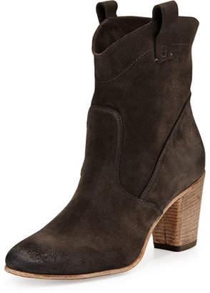 Alberto Fermani Chiara Slouchy Suede Western Ankle Boot