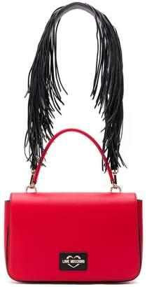 Love Moschino fringe strap shoulder bag